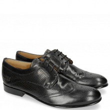 Derby Schuhe Sally 36 Salerno Perfo Black
