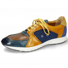Sneakers Blair 18 Pisa Ice Tortora Indy Yellow Suede Navy