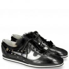 Sneakers Pearl 1 Suede Pattini Black Cromia Gunmetal