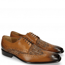 Derby Schuhe Albert 2 Tan Tex Pixel Orange