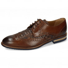 Derby Schuhe Kane 5 Dark Brown Mesh