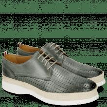 Derby Schuhe Regine 1 Perfo Square Clear Water