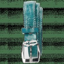 Gürtel Linda 1 Crock Turquoise Sword Buckle