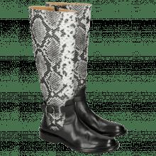 Stiefel Sally 58 Snake Nappa Grain Black Strap