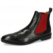 Stiefeletten Alex 9 Remo Black Elastic Red