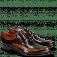 Derby Schuhe Toni 36 Tan Mogano