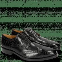 Derby Schuhe Jeff 1 Crock Black
