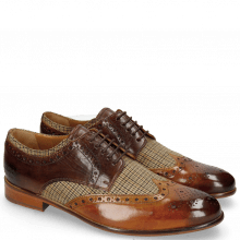 Derby Schuhe Henry 23  Textile English Rope Mid Brown