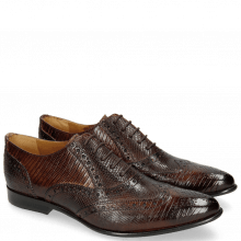 Oxford Schuhe Keira 10 Lizzard Mid Brown Python Brown