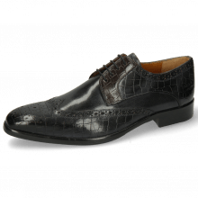 Derby Schuhe Lewis 3 Crock London Fog Deep Steel