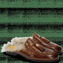 Pantoletten Clive 5 Crock Tan Tassel Tan MTC Gold