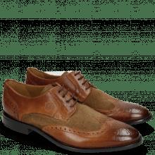 Derby Schuhe Victor 2 Rio Mid Brown Suede Pattini Roccia