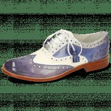 Oxford Schuhe Amelie 70 Vegas Moroccan Blue White Cherso Silver Wind