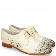 Derby Schuhe Selina 14 Vegas Nude Interlaced Multi