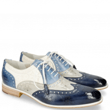 Oxford Schuhe Jeff 28 Vegas Navy Digital Moroccan Blue White