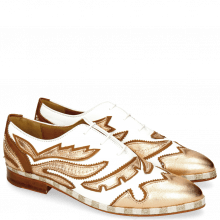 Oxford Schuhe Jessy 43 Rio White Talca Rose Gold