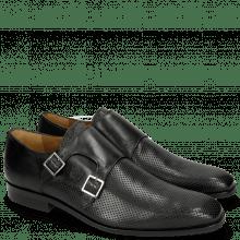 Monk Schuhe Xander 4 Rio Perfo Black