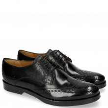 Derby Schuhe Amelie 3 Black HRS Thick Black
