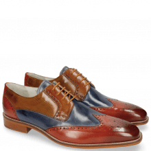 Derby Schuhe Jeff 14 Orange Moroccan Blue Tan Sand