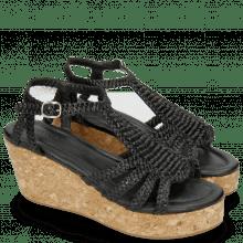 Pantoletten Hanna 55 Woven Black Cork