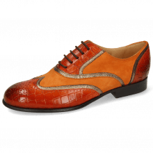 Oxford Schuhe Sally 38 Crock Winter Orange Nappa Aztek Bronze
