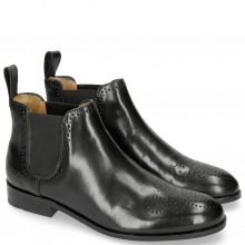 Stiefeletten Sally 16 Black Elastic Black Rubber Sole M&H