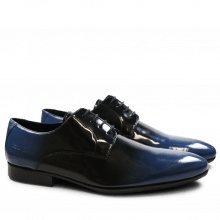 Derby Schuhe Paul 5 Patent Black Blue HRS Black