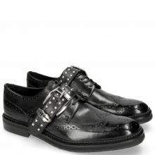 Derby Schuhe Eddy 37 Black Rivets Nickel Sword