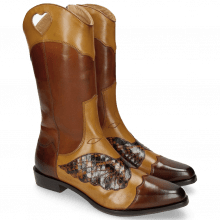 Stiefel Marlin 36 Mid Brown Sand Python Brown
