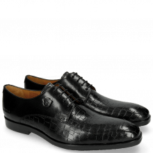 Derby Schuhe Greg 4 Venice Crock Black
