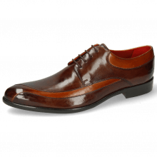 Derby Schuhe Toni 36 Cognac Mid Brown