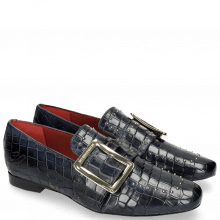 Loafers Luna 3 Crock Navy Rivets Gold