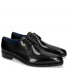 Derby Schuhe Lewis 10 Black Lining Electric Blue