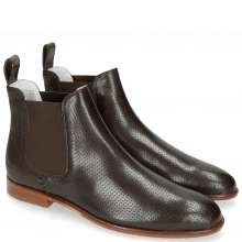 Stiefeletten Susan 10 Salerno Perfo Dark Brown Elastic Brown