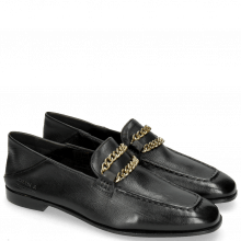 Loafers Liv 8 Nappa Glove Black Chain Gold