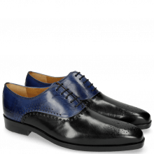 Oxford Schuhe Lewis 41 Black Midnight Blue