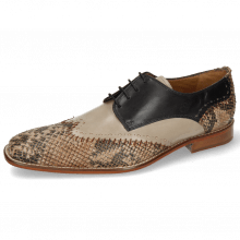 Derby Schuhe Clark 1 Snake Digital Black