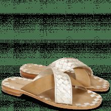 Pantoletten Elodie 10 Woven Cherso Bisque Vegas Sand