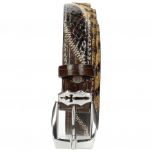 Gürtel Linda 1 Crock Brown Hairon Driveway Sword Buckle