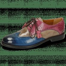 Derby Schuhe Selina 41 Bluette Oxygen Lilac Tassel