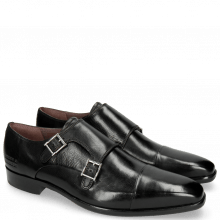 Monk Schuhe Lance 1 Black Purple Lining