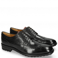 Derby Schuhe Eddy 30 Black Tongue Red