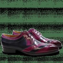 Derby Schuhe Ricky 8 Eggplant Navy