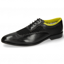 Oxford Schuhe Sara 1 Black Big Net Fluo Yellow