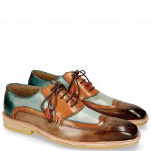 Oxford Schuhe Marvin 12 Brown Orange Blue