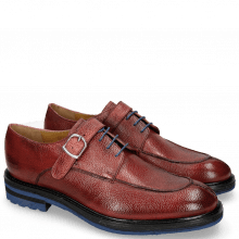Derby Schuhe Trevor 13 Scotch Grain Rich Red Crip Blue