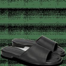 Pantoletten Hanna 5 Plain Black Nappa Black