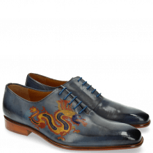 Oxford Schuhe Clark 6 Moroccan Blue Dragon