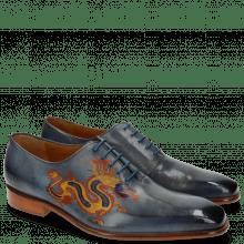Oxford Schuhe Clark 6 Moroccan Blue Dragon