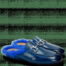 Pantoletten Clive 2 Bluette Trim Nickel Fur Lining